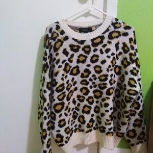 Forever21+ Leopard print sweater
